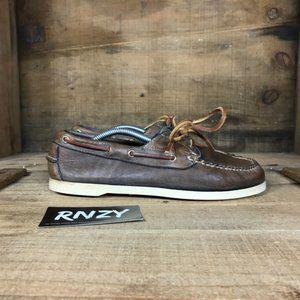 L.L. Bean Signature Leather Brown Boat Shoes